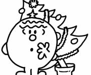 Coloring pages Mr. Bump christmas