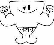 Coloring pages Mr. Men Little Miss in black and white