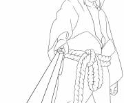 Coloring pages Easy Sasuke Drawing