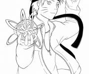 Coloring pages Naruto and the water balloon