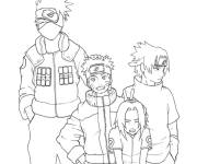 Coloring pages Naruto: drawing of the character