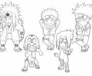 Coloring pages Naruto kids
