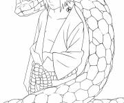 Coloring pages Sasuke and the snake