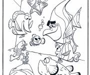 Free coloring and drawings Cartoon nemo Coloring page