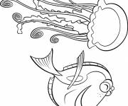 Coloring pages Dory in danger: Dory's world