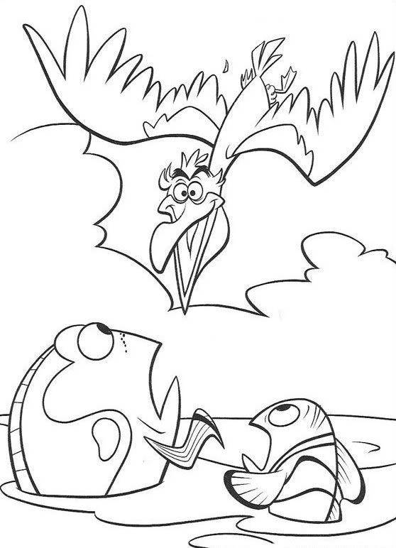 Free coloring and drawings Marlin and Dory to print Coloring page