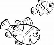 Free coloring and drawings Nemo and his father Coloring page