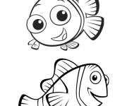 Coloring pages Nemo and Marlin: The world of Nemo