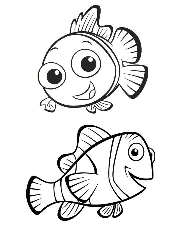 Free coloring and drawings Nemo and Marlin: The world of Nemo Coloring page