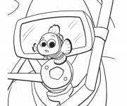 Coloring pages Nemo and the diver