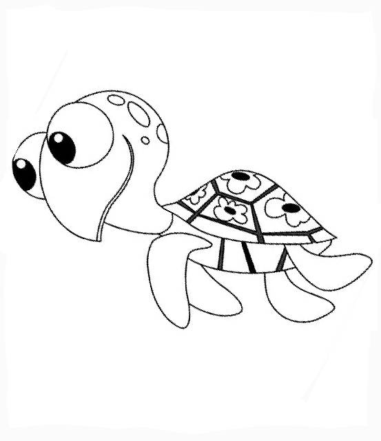 Free coloring and drawings Nemo cartoon Coloring page