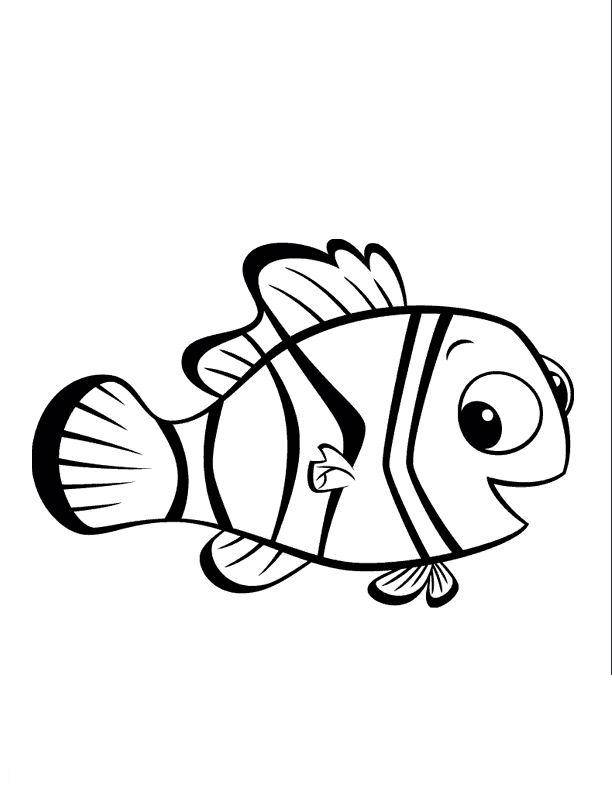 Free coloring and drawings Nemo drawing Coloring page