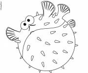 Free coloring and drawings Nemo fish Coloring page