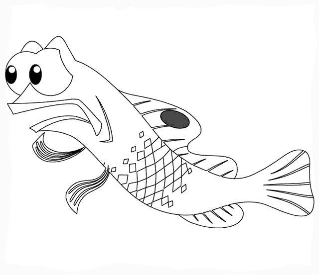 Free coloring and drawings Nemo Gargoyle Coloring page