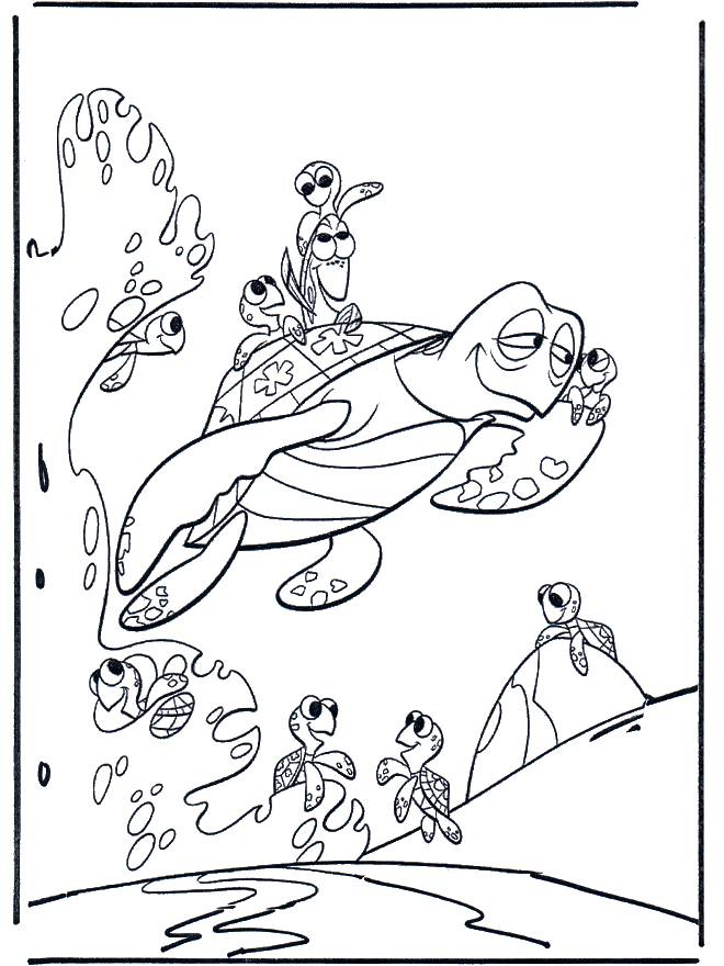 Free coloring and drawings Nemo goes on an excursion Coloring page
