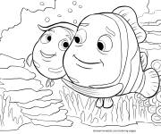 Coloring pages Nemo loves his father