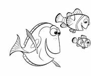 Coloring pages Nemo, Marlin and Dory