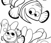 Coloring pages Nemo plays with his father