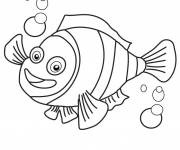 Coloring pages Nemo Simple