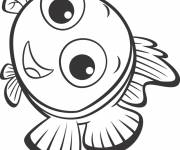 Coloring pages Nemo smiling