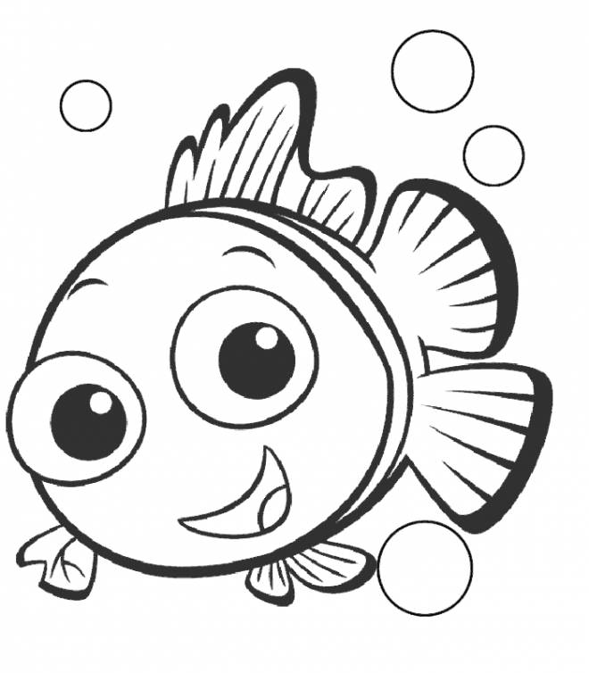 Free coloring and drawings Nemo to print Coloring page