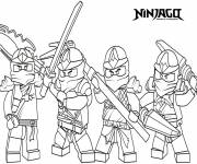 Coloring pages Ninjago the movie