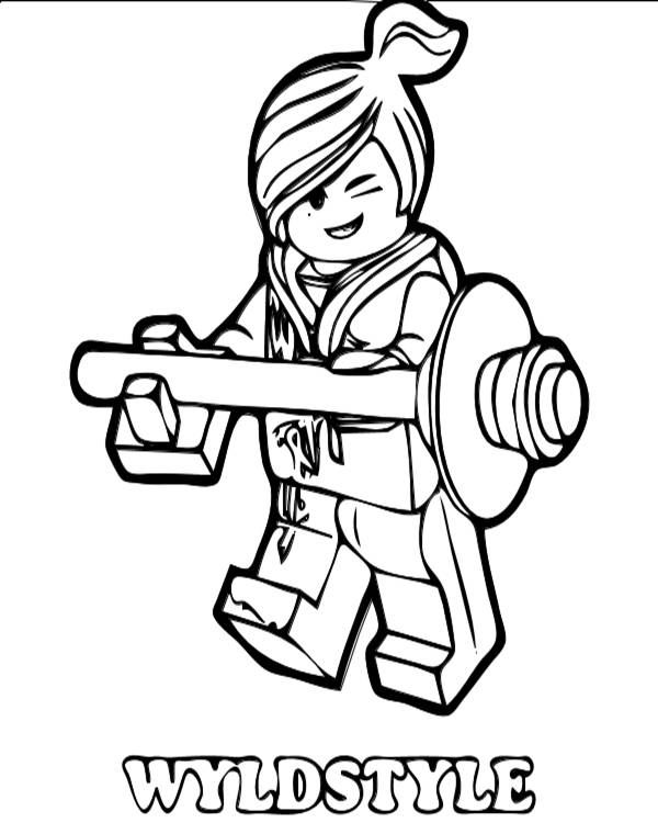 Free coloring and drawings Ninjago Wyldstyle Coloring page
