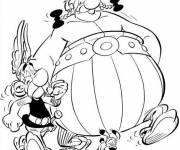 Coloring pages Obelix and his friend