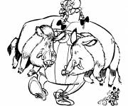 Coloring pages Obelix the food lover