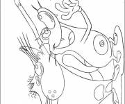 Coloring pages Oggy captures Joey and Marky