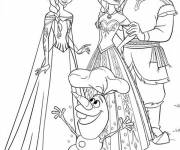 Coloring pages Elsa Snow Queen and Olaf