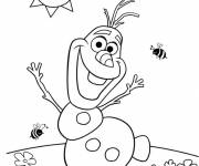 Coloring pages Olaf dancing