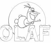 Coloring pages Olaf image to print