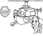 Free coloring and drawings Pat Patrol Stella and the helicopter Coloring page