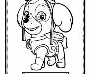 Coloring pages Paw Patrol and the beautiful Stella