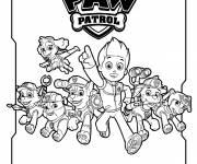 Coloring pages Paw Patrol in black and white