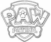 Coloring pages Paw Patrol logo