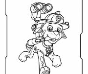 Coloring pages Paw Patrol Marcus the clumsy