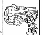 Coloring pages Paw Patrol Marcus the firefighter