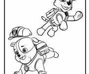 Coloring pages Paw Patrol Rubble and Rocky