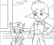 Coloring pages Paw Patrol Ryder and Chase