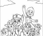 Coloring pages The complete Paw Patrol