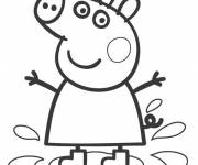 Coloring pages Cartoon peppa pig