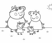 Coloring pages Peppa funny Pig
