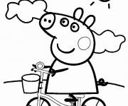 Coloring pages Peppa Pig coloring of the family