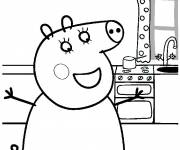 Coloring pages Peppa Pig maternal