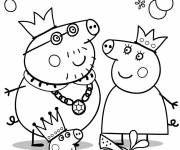 Coloring pages Peppa Pig palying online