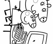 Coloring pages Peppa Pig parents