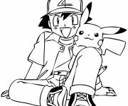 Coloring pages Drawing of Pikachu cartoon