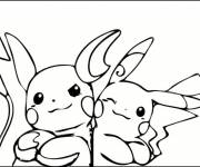Coloring pages Drawing of the Pokemon's Pikachu